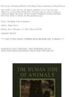 The Human Side of Animals, by Royal Dixon pdf