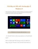 Giải đáp các thắc mắc thường gặp về Windows 8 pot