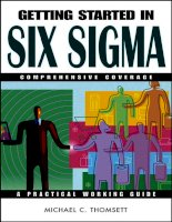 Six Sigma Getting Started in.The Getting Started in SeriesGetting Started in Online Day Trading potx