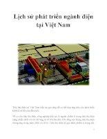 Lịch sử phát triển ngành điện tại Việt Nam ppt