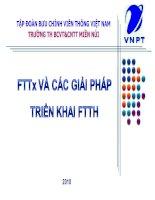 FTTx và các giải pháp triển khai FTTH pdf