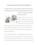 10 điều nên ghi nhớ về bảo mật với Facebook pdf