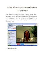 Bí mật để thành công trong cuộc phỏng vấn qua Skype pot