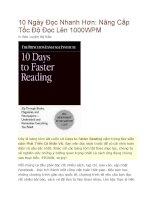 10 Ngày Đọc Nhanh Hơn ppt
