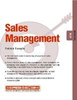 Sales Management MARKETING Patrick Forsythi doc