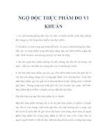 NGỘ ĐỘC THỰC PHẨM DO VI KHUẨN pdf
