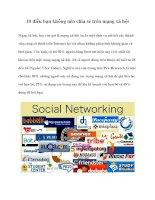 10 điều bạn không nên chia sẻ trên mạng xã hội doc