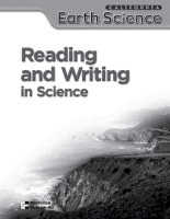 reading and writing in science 6