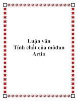 Luận văn Tính chất của môđun Artin pptx