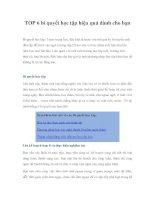 TOP 6 bí quyết học tập hiệu quả dành cho bạnBí quyết học tập | Teens trung pdf