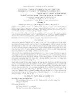 Báo cáo khoa học : ẢNH HƯỞNG CỦA CÁC MỨC DINH DƯỠNG ĐẾN KHẢ NĂNG SINH TRƯỞNG CỦA TRÂU TƠ NUÔI THỊT 7 - 18 THÁNG TUỔI pptx