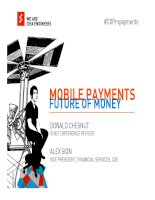 the future of money how mobile payments and the digitization of money will change everything docx
