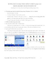Hướng dẫn cài đặt phần mềm V.EMIS Version 1.2.0 trong hệ điều hành Windows Xp pdf