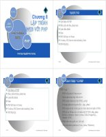 Bài Giảng Lập Trình Web -Chương 6: Lập trình Web với PHP pdf
