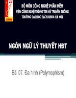 LTHDT - Bài 07. Đa hình (Polymophism) docx