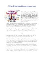 7 bí quyết bán hàng hiệu quả trên mạng xã hội ppt