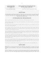Quyết định Số: 25/2012/QĐ-UBND VỀ VIỆC BÃI BỎ QUYẾT ĐỊNH SỐ 62/2007/QĐ-UBND NGÀY 08/10/2007 CỦA UBND TỈNH VỀ VIỆC QUY ĐỊNH MỨC THU, CHẾ ĐỘ THU, NỘP, QUẢN LÝ VÀ SỬ DỤNG PHÍ ĐẤU GIÁ TRÊN ĐỊA BÀN TỈNH KHÁNH HÒA. ppt