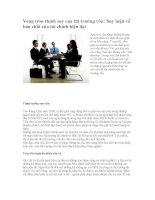 Vòng tròn thịnh suy của thị trường vốn: Suy luận về bản chất của tài chính hiện đại doc