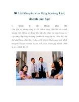10 Lời khuyên cho tăng trưởng kinh doanh của bạn pdf