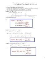 Chủ đề phương trình - toán 9 doc
