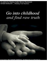 Minding Your Business Go Into Childhood and Find Raw Truth pdf