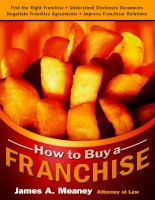 How to buy a franchise by james a meaney pot