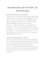 """10 câu hỏi phỏng vấn rất """"hiểm"""" của nhà tuyển dụng pptx"""