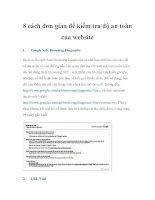 8 cách đơn giản để kiểm tra độ an toàn của website potx
