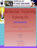 Đề tài : Bố cục hình ảnh, văn bản trên giao diện người – máy có một số loại chính nào ? docx