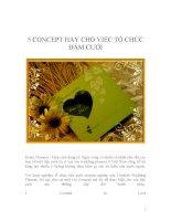 5 CONCEPT HAY CHO VIỆC TỔ CHỨC ĐÁM CƯỚI pdf