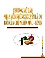 Chương mở đầu: Nhập môn Những nguyên lý cơ bản của CNMLN pdf