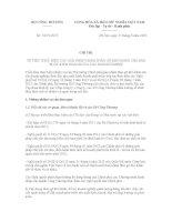 Chỉ thị Số: 13/CT-BCT VỀ VIỆC THỰC HIỆN CÁC GIẢI PHÁP NHẰM THÁO GỠ KHÓ KHĂN CHO SẢN XUẤT KINH DOANH CỦA CÁC DOANH NGHIỆP pptx