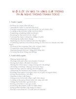 MỘT số từ VỰNG THƯỜNG gặp TRONG PHẦN NGHE TRANH TOEIC