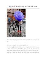 Kỹ thuật & mẹo chụp ảnh khi trời mưa potx