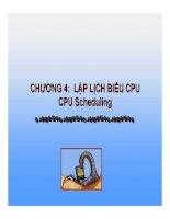 Bài Giảng Hệ Điều Hành-Chương 4 : LẬP LỊCH BIỂU CPU CPU pot