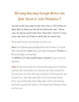 Bổ sung thư mục Google Drive vào lệnh ''''Send to'''' trên Windows 7 docx