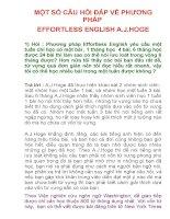 MỘT SỐ CÂU HỎI ĐÁP VỀ PHƯƠNG PHÁP EFFORTLESS ENGLISH A.J.HOGE pot