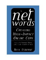 intentionally left blank Net Words Creating High-Impact Online ppt