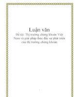 Luận văn: Thị trường chứng khoán Việt Nam và giải pháp thúc đẩy sự phát triển của thị trường chứng khoán docx
