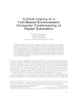 Critical Inquiry in a Text-Based Environment: Computer Conferencing in Higher Education pdf