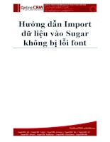 Hướng dẫn Import dữ liệu vào SugarCRM không bị lỗi font doc