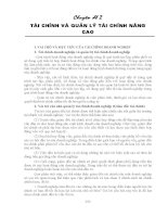 Chuyên đề 2 TÀI CHÍNH VÀ QUẢN LÝ TÀI CHÍNH NÂNG CAO ppt