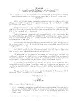 Hiệp định về chương trình ưu đãi thuế quan có hiệu lực chung (CEPT) cho Khu vực Thương mại Tự do ASEAN (AFTA) pdf