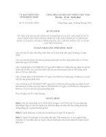 Quyết định Số: 31/2012/QĐ-UBND VỀ VIỆC BÃI BỎ QUYẾT ĐỊNH SỐ 01/2002/QĐ-UB NGÀY 14/01/2002 CỦA ỦY BAN NHÂN DÂN TỈNH ĐỒNG THÁP VỀ VIỆC BAN HÀNH QUY CHẾ HOẠT ĐỘNG CỦA BAN CHỈ ĐẠO CHỐNG BUÔN LẬU, CHỐNG HÀNG GIẢ VÀ GIAN LẬN THƯƠNG MẠI pdf