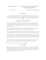 Quyết định Số: 4697/QĐ-BCT VỀ VIỆC PHÊ DUYỆT PHÒNG THÍ NGHIỆM THỰC HIỆN VIỆC GIÁM ĐỊNH HÀM LƯỢNG FORMALDEHYT, CÁC AMIN THƠM CÓ THỂ GIẢI PHÓNG RA TỪ THUỐC NHUỘM AZO TRONG CÁC ĐIỀU KIỆN KHỬ TRÊN SẢN PHẨM DỆT MAY docx