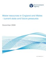 Water resources in England and Wales - current state and future pressures pptx