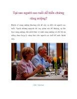 Tại sao người cao tuổi dễ biến chứng răng miệng? pdf