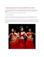 10 tác dụng tuyệt vời của múa đối với sức khỏe pdf