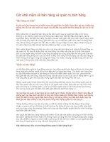 Các khái niệm về bán hàng và quản trị bán hàng pptx