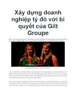 Xây dựng doanh nghiệp tỷ đô với bí quyết của Gilt Groupe doc